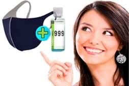 И маска, и антисептик для рук соответствуют мировым стандартам.